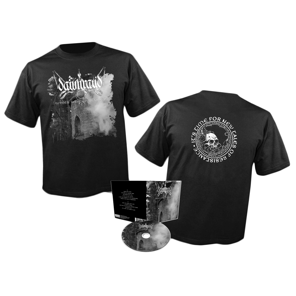 DAWN RAY'D - Behold Sedition Plainsong CD + shirt  (Prosthetic Records)