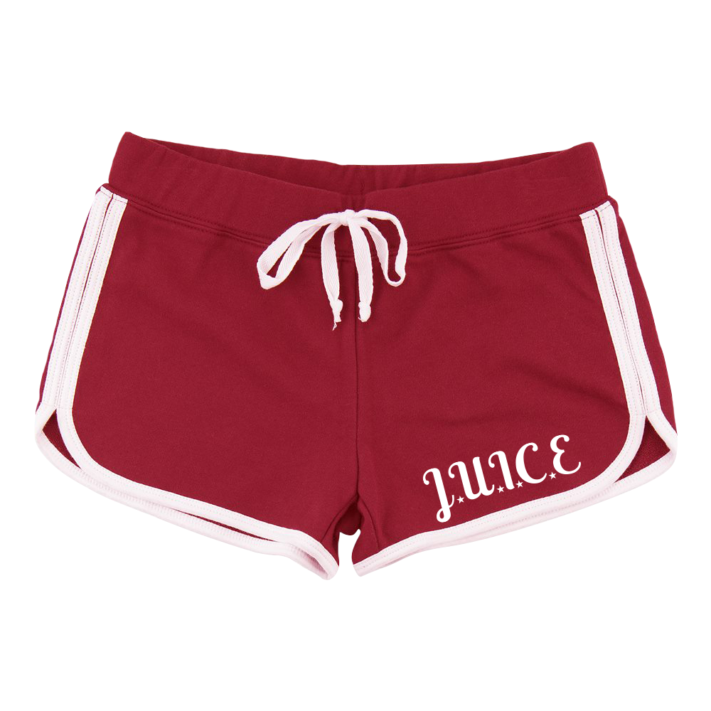 Red & White J.U.I.C.E. Shorts