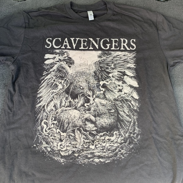 SCAVENGERS - WAR shirt - white on black