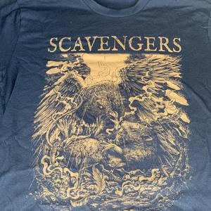 SCAVENGERS - WAR shirt - rust on black