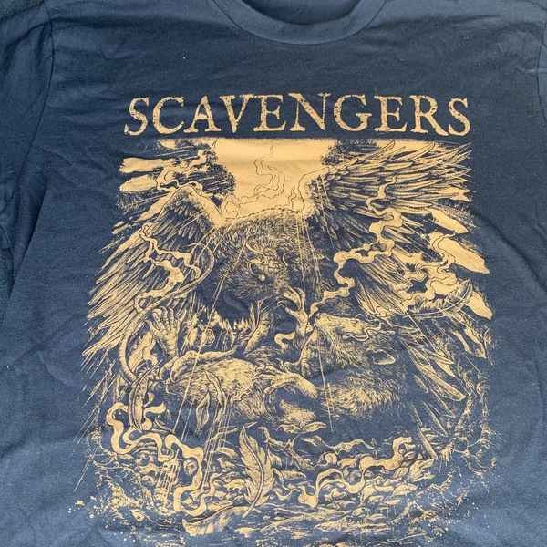 SCAVENGERS - WAR shirt - rust on black