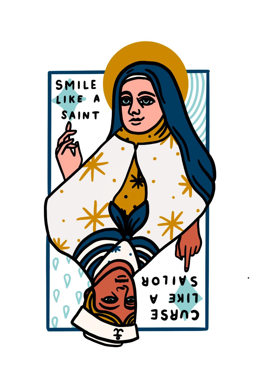 Smile Like A Saint Patch