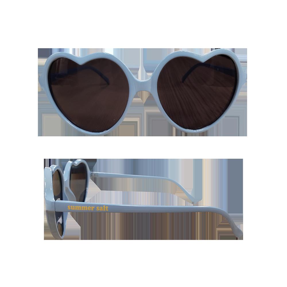 Light Blue Heart Sunglasses