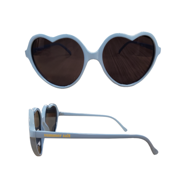Light Blue Heart Sunglasses