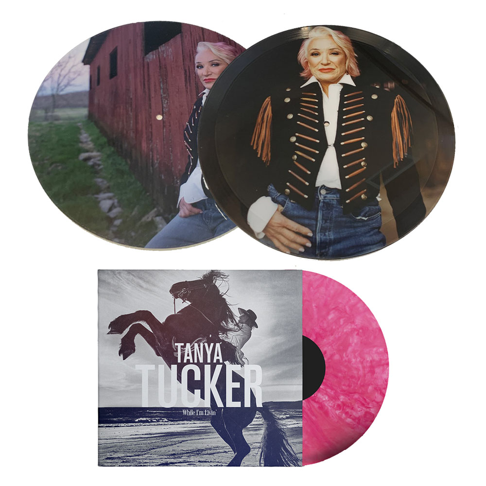 "Personalized 12"" Vinyl Picture Disc Vinyl with Exclusive Song & Photo + ""Bubblegum"" Color Vinyl LP + Turntable Mat Bundle + Woven Patch + Bumper Sticker (50 available)"