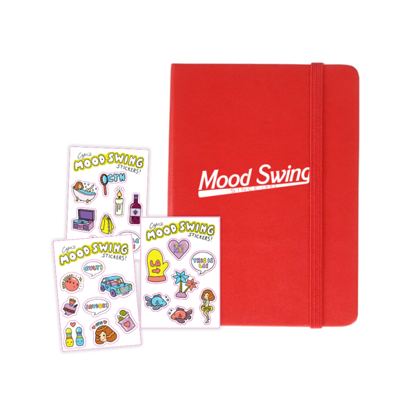 Mood Swing Journal + Sticker Sheet Set