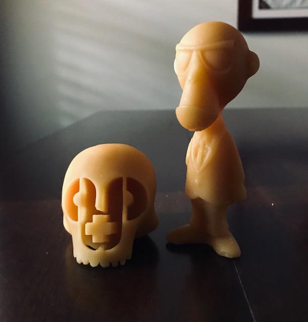 Skulls + Monkey Assassin Beeswax Figures