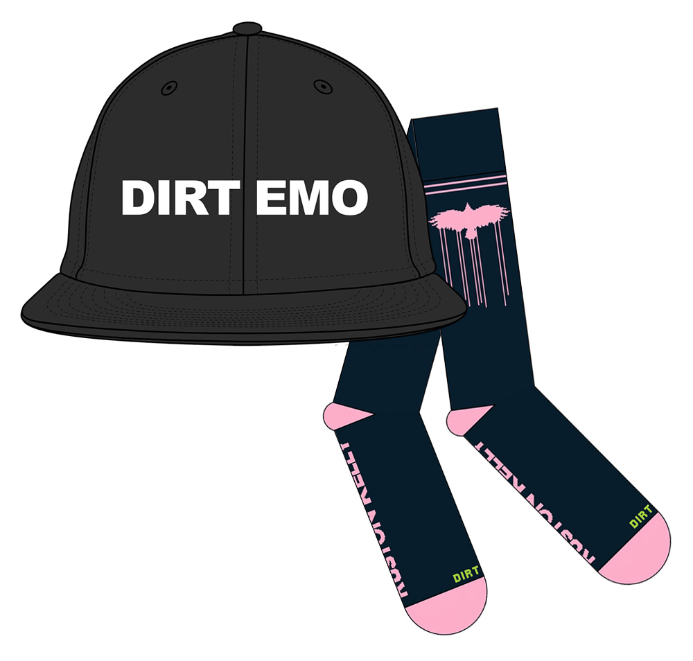 """""""Dirt Emo"""" Phase 2 Bundle: """"Dirt Emo"""" Cap + """"Dirt Emo"""" Socks"""