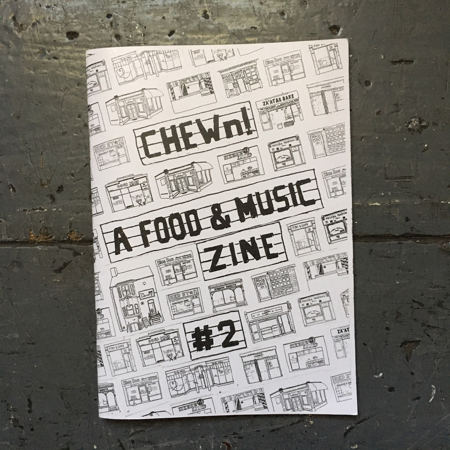 CHEWn: A Food & Music Zine #1 - #3