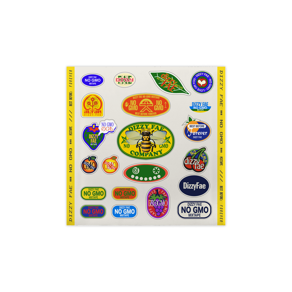 No GMO Sticker Sheet