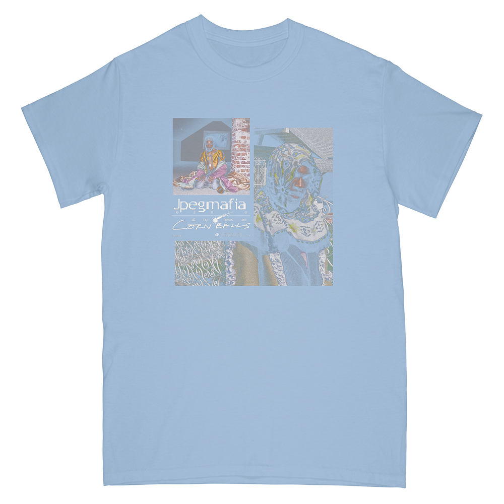 Cornballs Tee - Light Blue