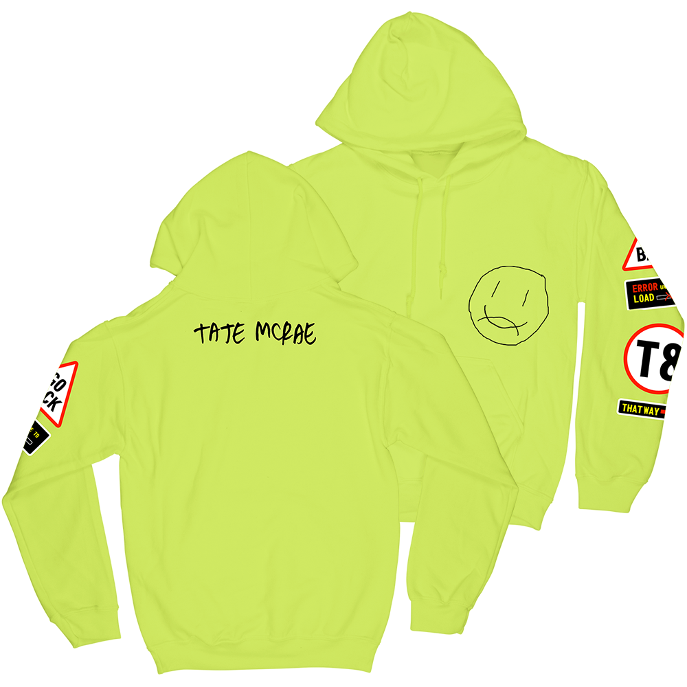 Caution Hoodie - Yellow