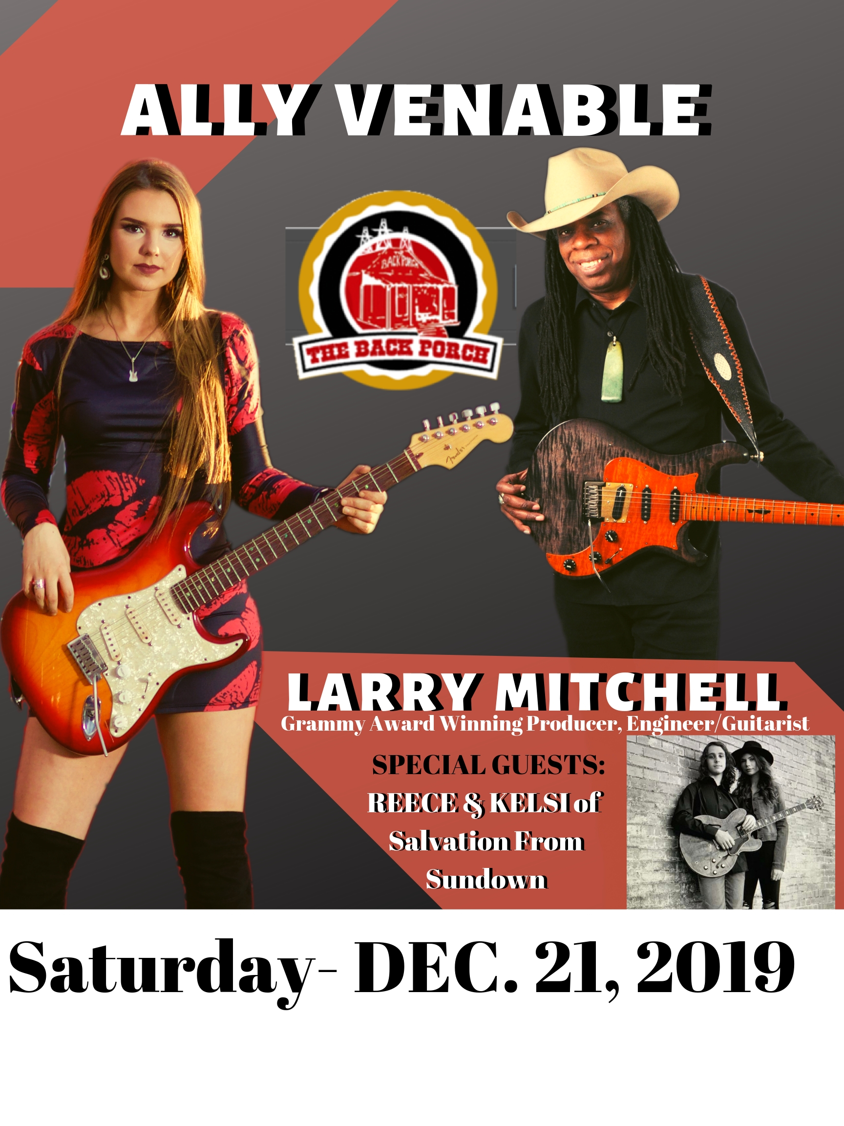 Ally Venable, Larry Mitchell - Backporch Tickets
