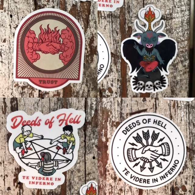 Deeds Of Hell Sticker Pack (4 Stickers)
