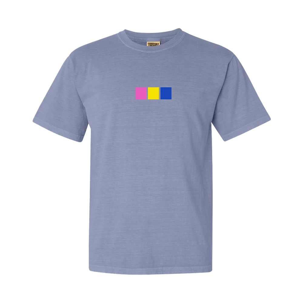 The Embroidered Colored Squares Tee