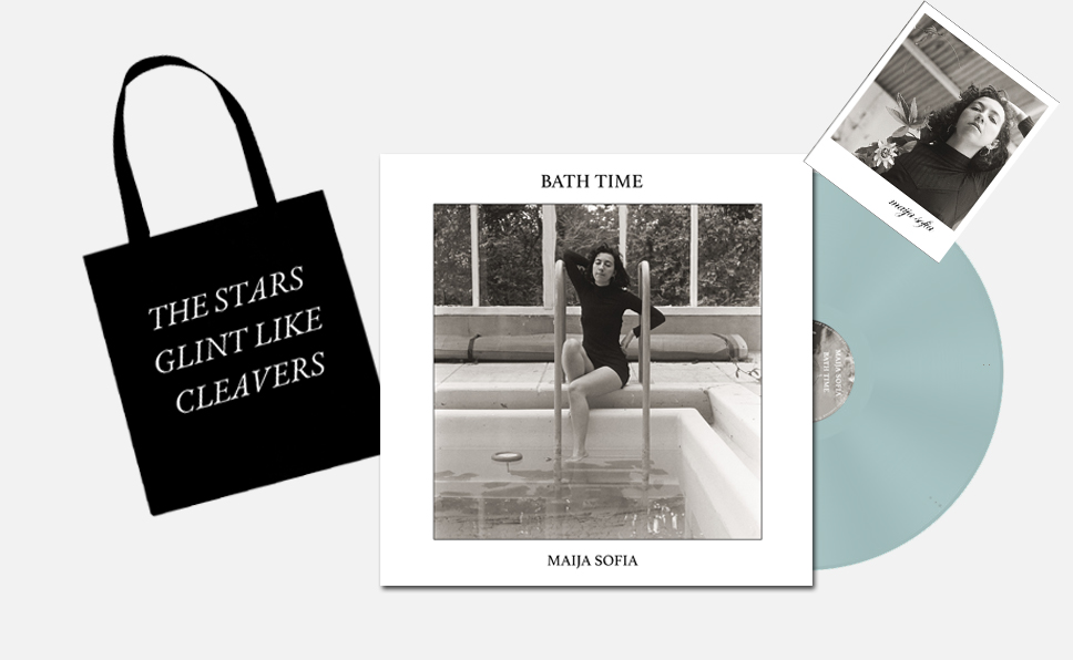 Maija Sofia - Bath Time - Bundle Vinyl / CD / Tote Bag Bundles /  Signed Polaroid + Hand Written Lyrics
