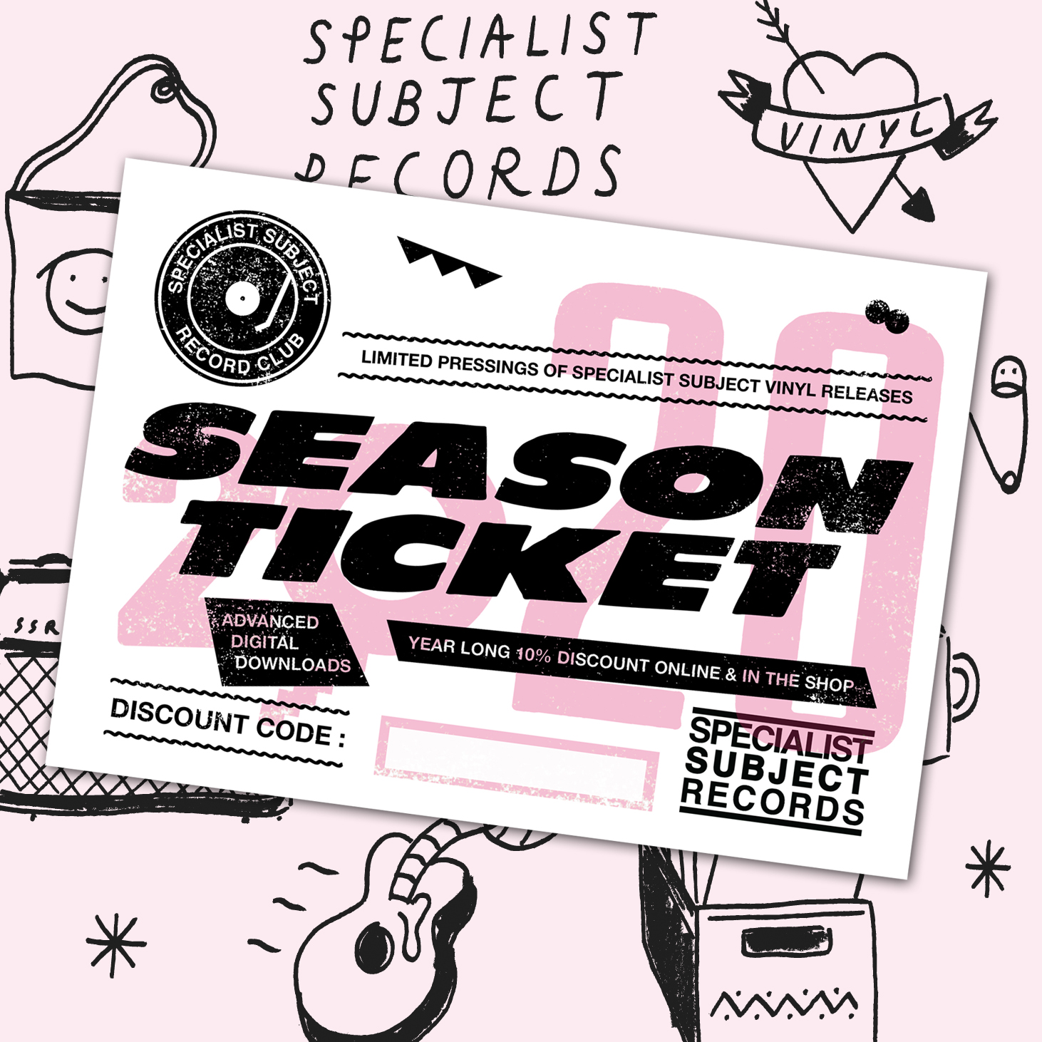 2020 Season Ticket - Vinyl Subscription