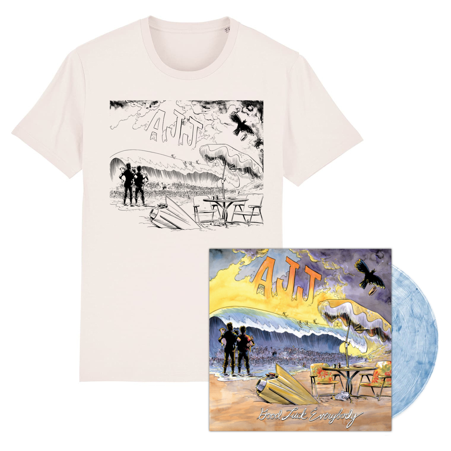 AJJ - Good Luck Everybody - LP / CD & Shirt