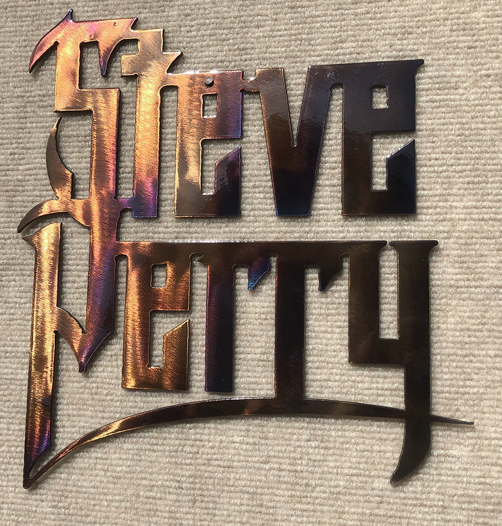 "Handmade Mountain Metal Art Steve Perry Wall Sculpture (12""x11"") + Vinyl/CD/Download (optional)"