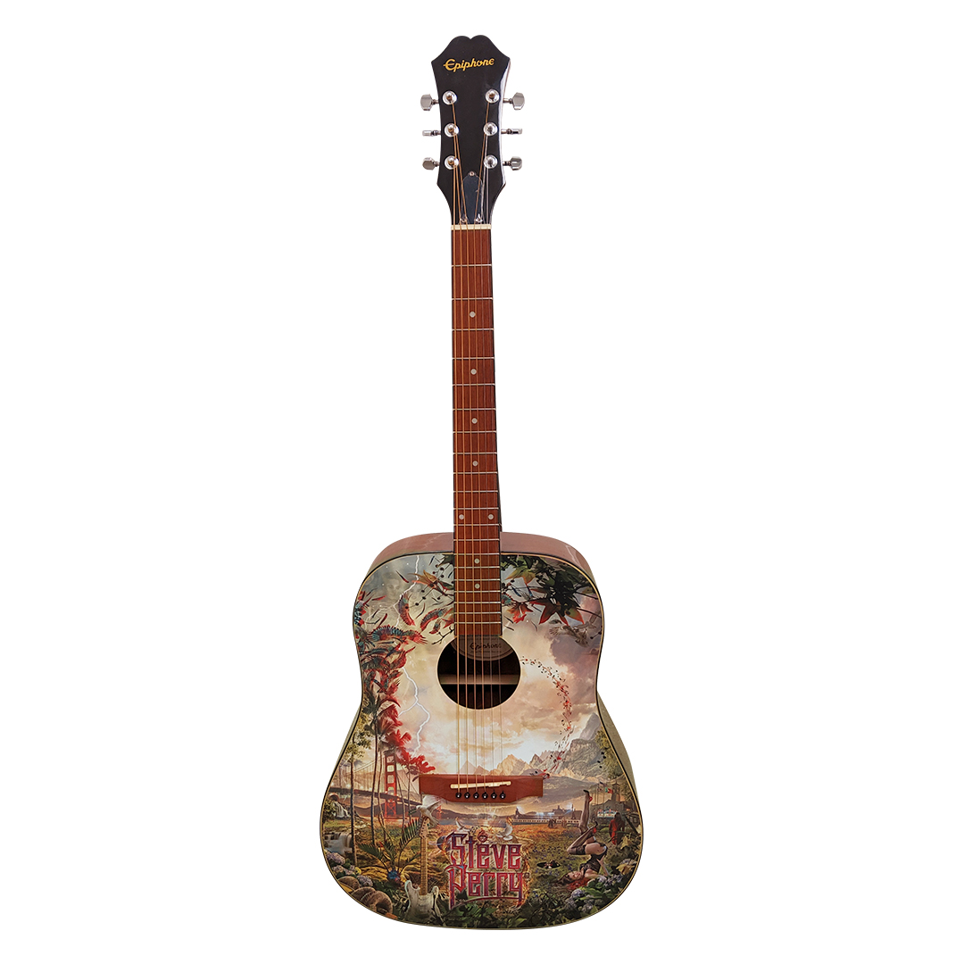 """Signed & Numbered Limited Edition """"Traces"""" Guitar (edition of 50) w/ Hard Case"""