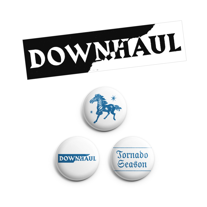Downhaul - Pins & Sticker