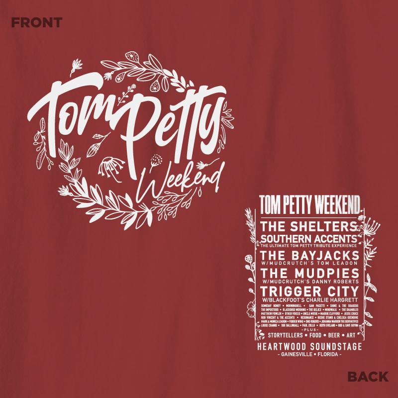 Tom Petty Weekend Ladies Shirt 2019 - Maroon