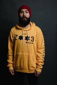 ZETA Venezziola Yellow Pullover Hoodie