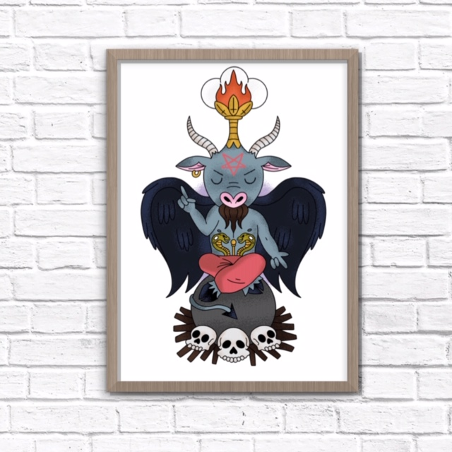Lil Baphomet 8x10 Inch Print - Limited to 13
