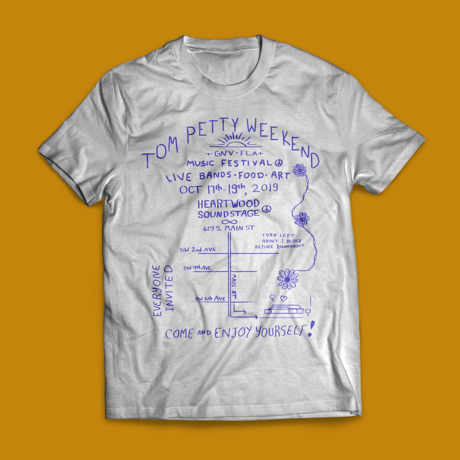 Tom Petty Weekend Handbill Map Shirt