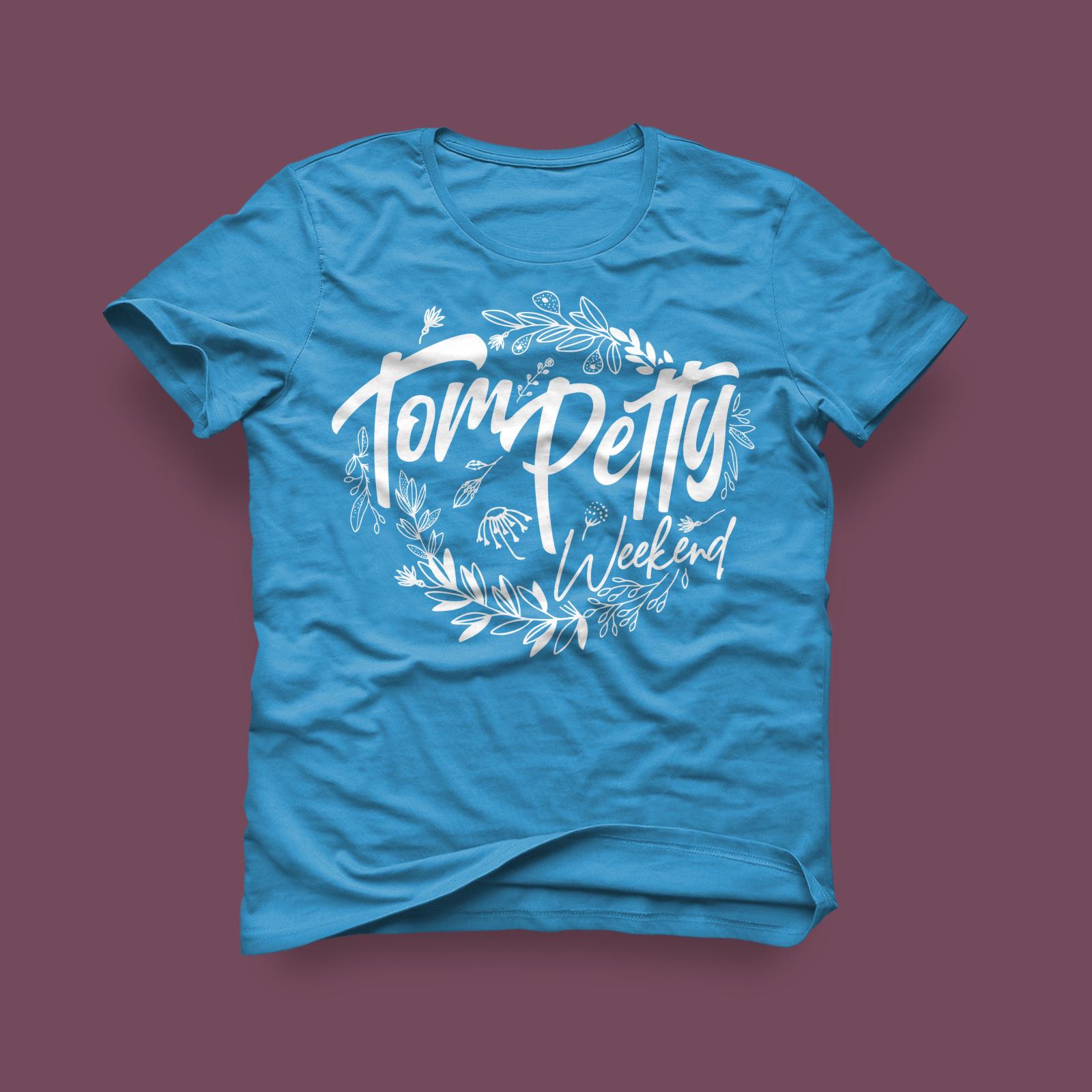 Tom Petty Weekend Ladies Shirt- Aqua - 2019