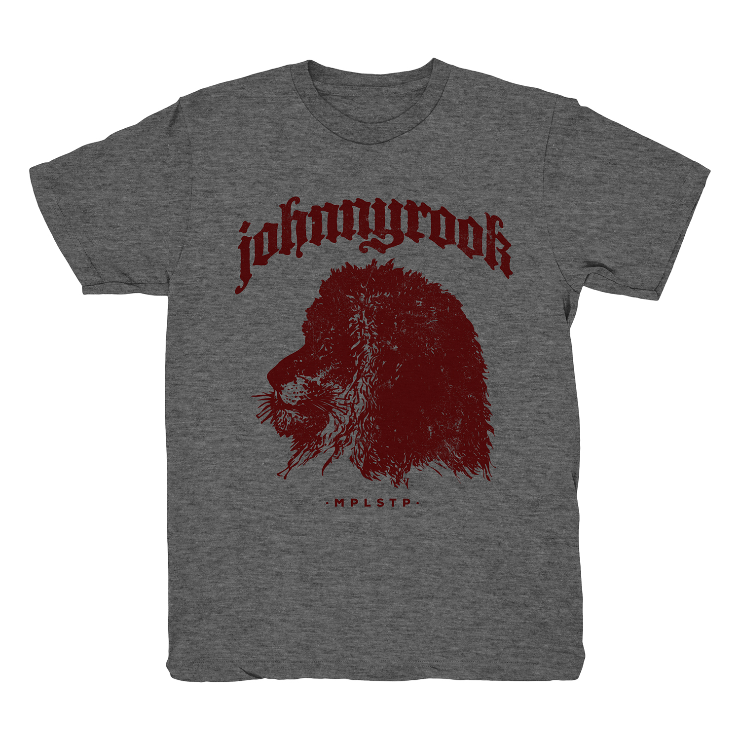 Johnnyrook Lion Tee - Deep Heather / Maroon