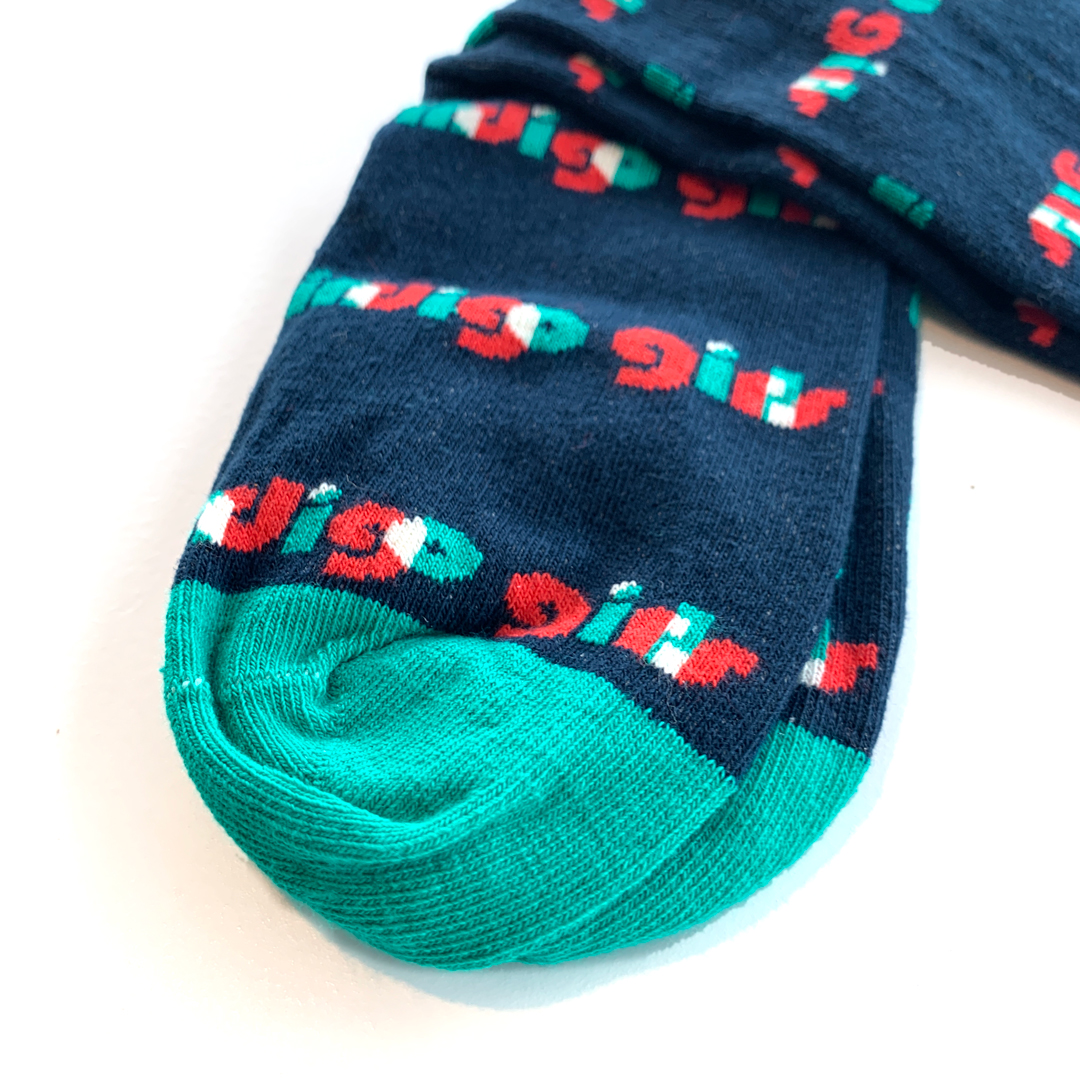 Symphony Mug + Navy/Reef Socks + Mirror Image Navy Tee Shirt Bundle