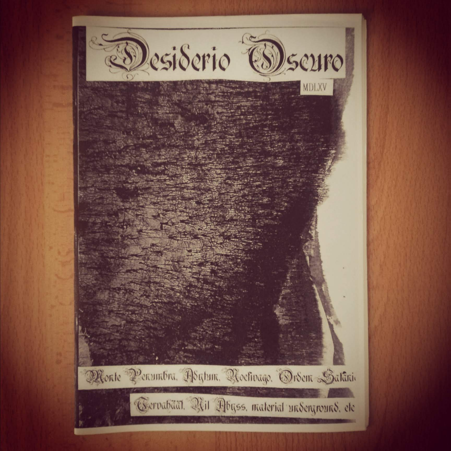 DESIDERIO OSCURO # MDLXV