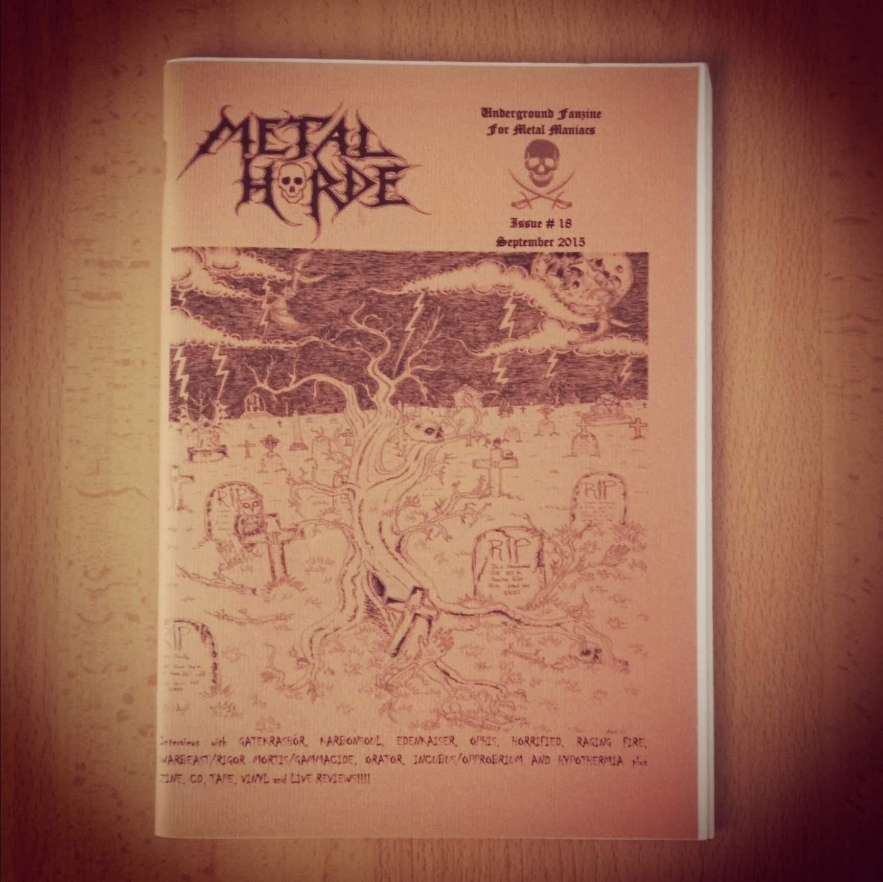 METAL HORDE ZINE # 18