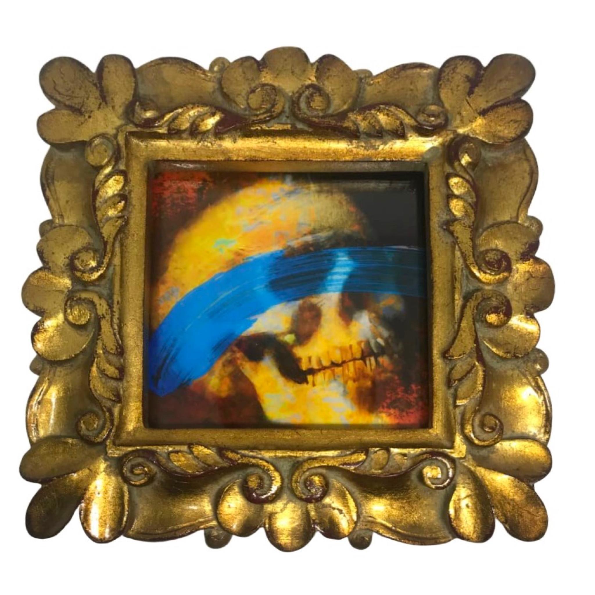 Framed 6 inch Skull Art Print