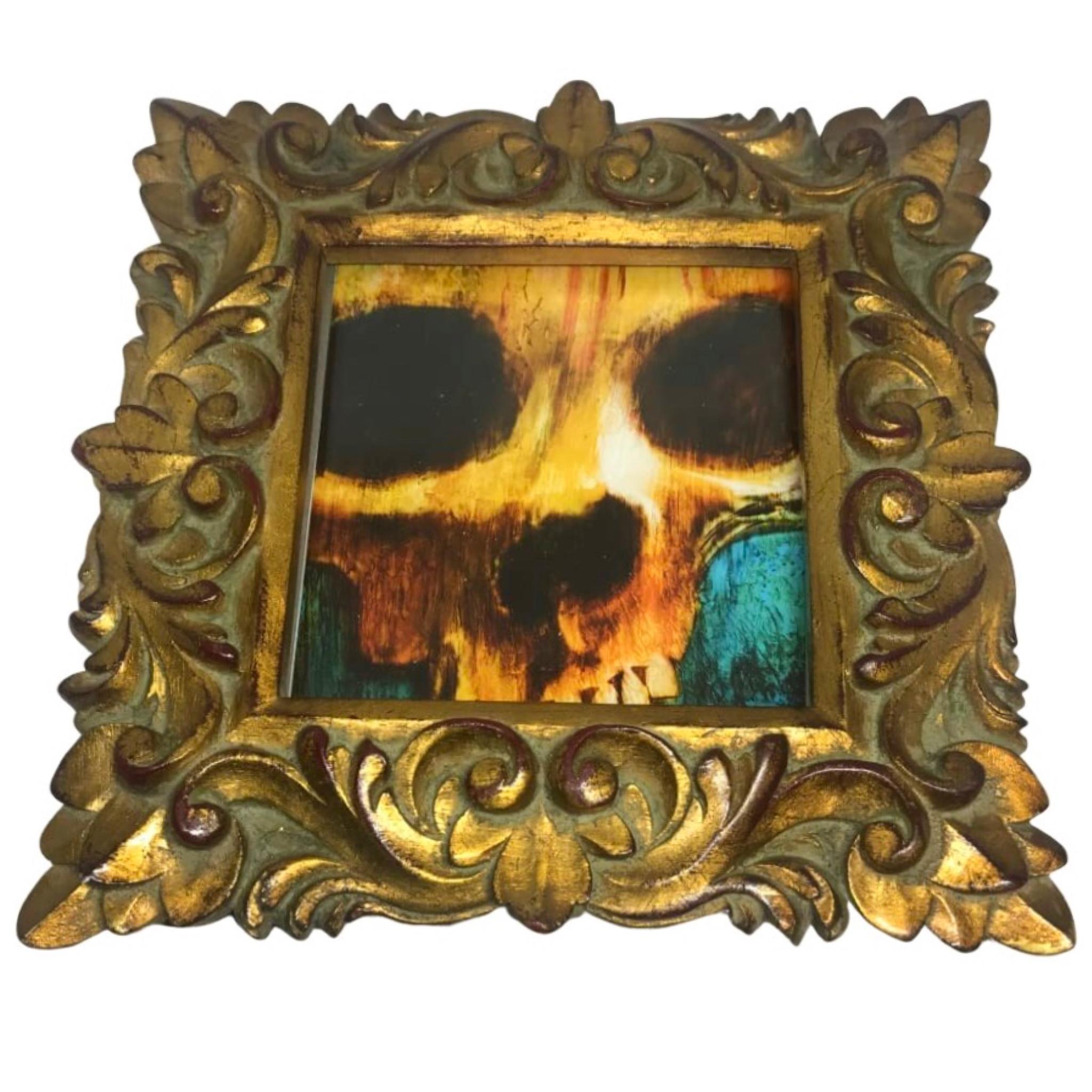 Framed 7 inch Skull Art Print