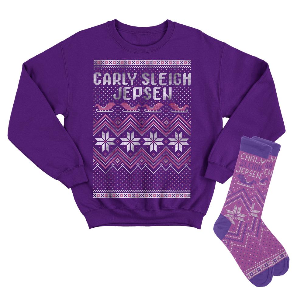 Carly Sleigh Jepsen Tacky Holiday Sweatshirt + Socks