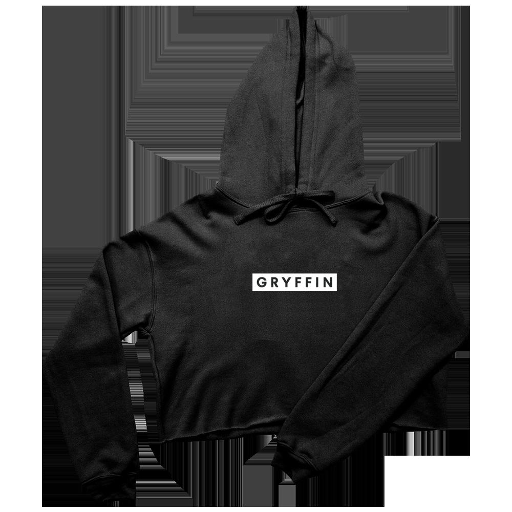 Gryffin Black Crop Hoodie