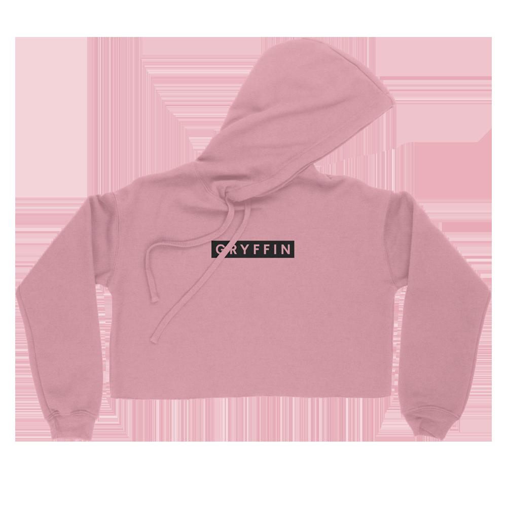 Gryffin Pink Crop Hoodie