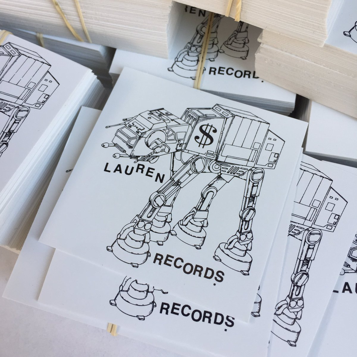 Lauren Records AT-AT Sticker