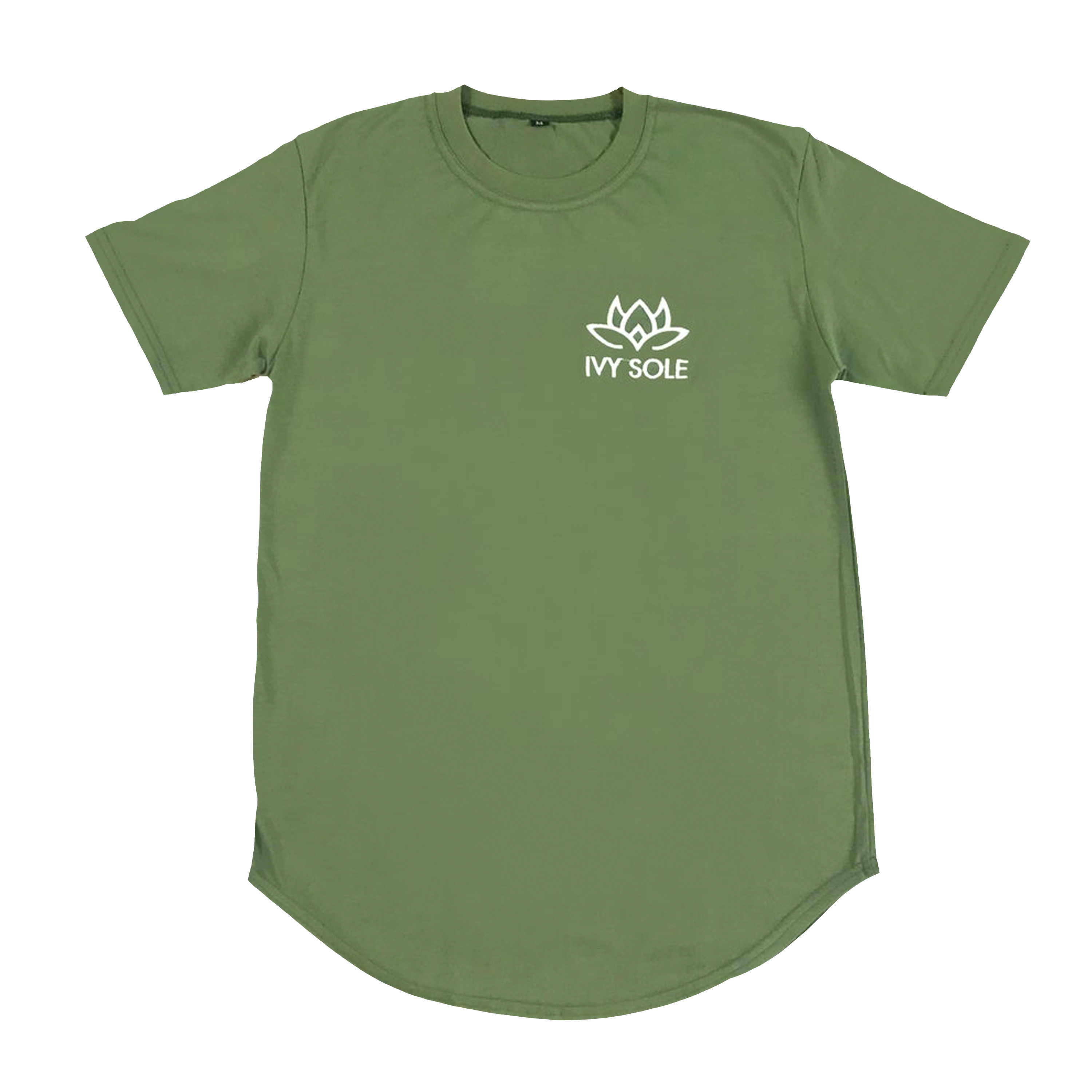 Green Lotus Embroidered Tee