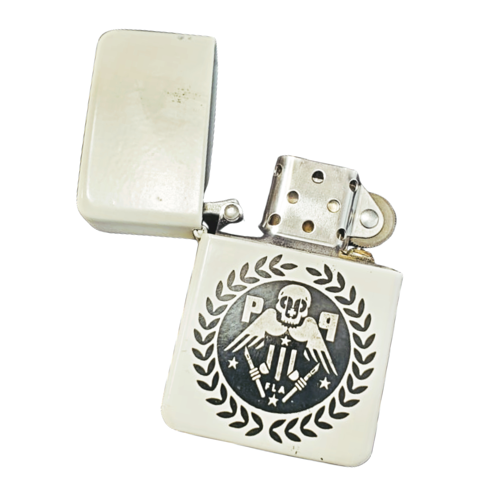 Limited P+P Eagle Skull Logo Zippo Style Lighter