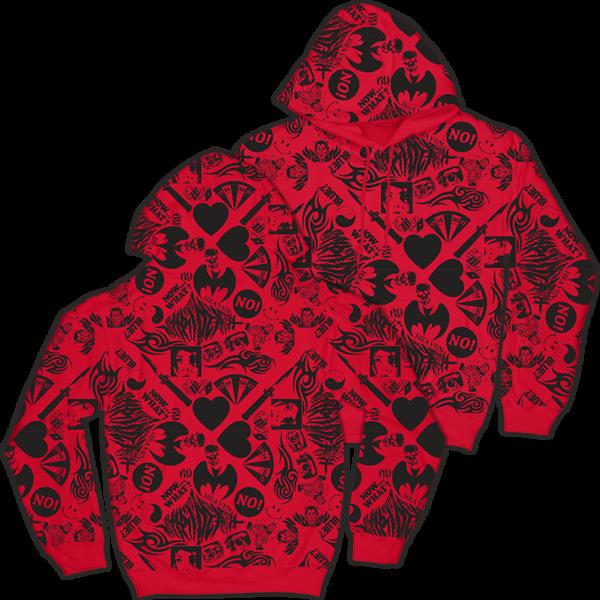 Red AOP Hoodie