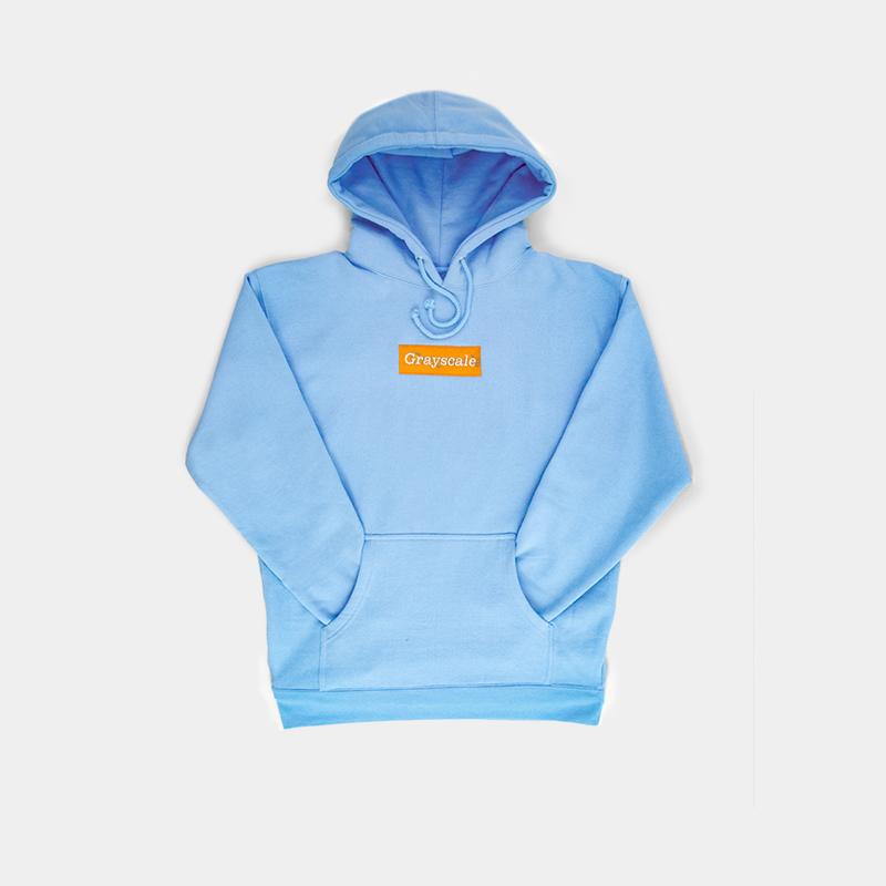 Tangerine on Baby Blue Colorway Hoodie