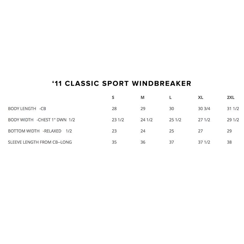'11 Classic Sport Heavyweight Windbreaker