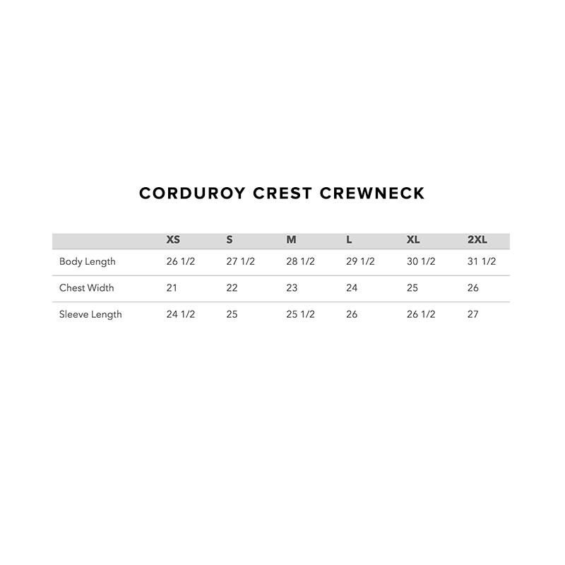 2019 Corduroy Crest Crewneck