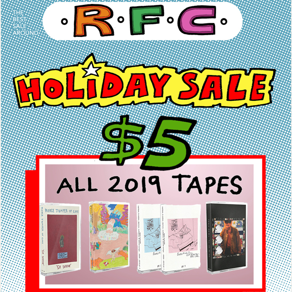 Holiday Sale 2019 - All 2019 Cassette Tape Releases $5