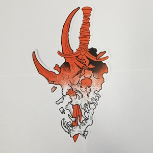Nick's Skull Sticker