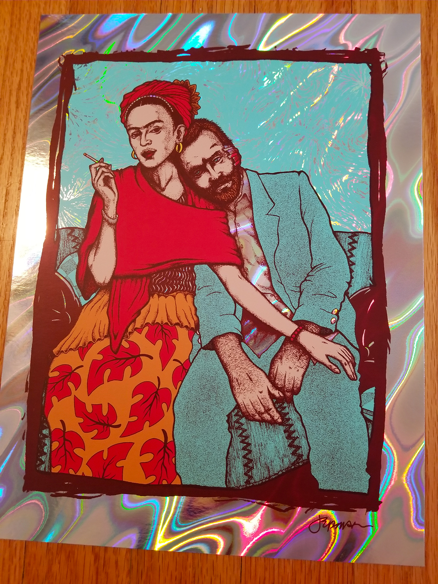 NEW - 'Frida & Vincent' Mini Silkscreen Print (Plus Variants)