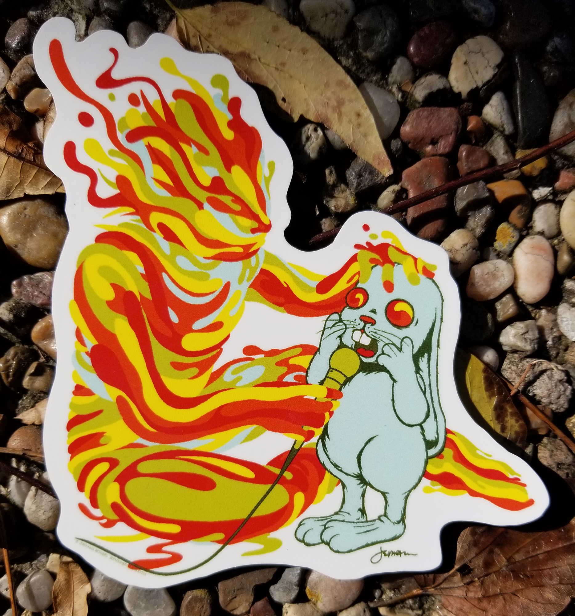 NEW - 'Your Merkabah Gives Me Courage...' VINYL STICKER